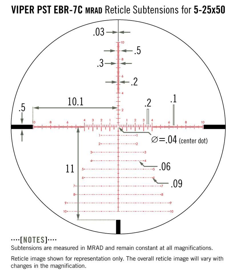 Vortex Viper PST Gen II 5-25x50 FFP Zielfernrohr EBR-2C MOA